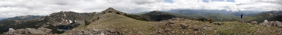 Panorama from the top of Baldy